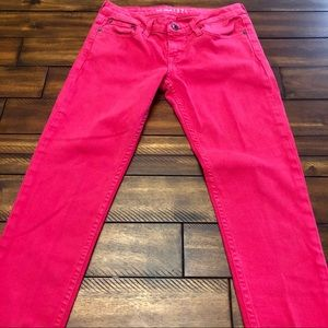 Big Star Hot Pink Skinny Cropped Jeans 27